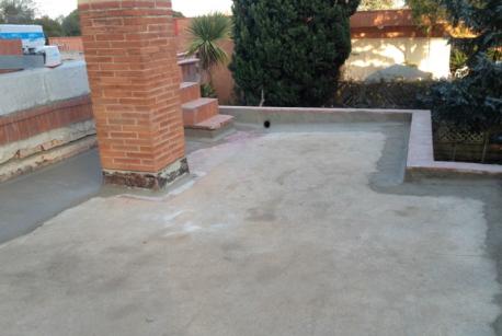Preparación de la superficie para la colocación de la impermeabilización.